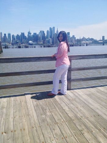 Full Length One Person Just Me Beutiful View Weehawken Weehauken, New Jersey Always Smile No Matter What  Beautiful Woman Peace ✌