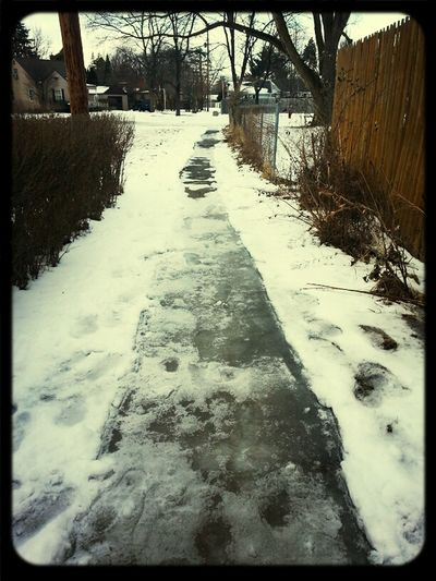 the snow and ice is melting thank god...tobad were getting more