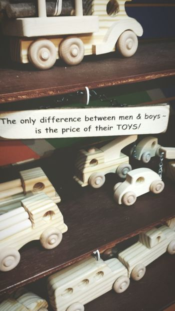 Men Toys Got Wood Window Shopping