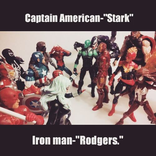 My attempt at a civil war photo.Probably not my best photo idk lol i tried.Diffenetly check out my bro @every_thing_awsome seriously does way better civil war pics then me. Marvelfigures Marvellegends Civilwar Spiderman Amazingspiderman Disney Hasbro Ironman Captainamerica Captainmarvel ACBA Collector Collection Figurelover Figures Figurelife Daredevil Mcu Thor  Comics Marvel Figurelife Nerd Venom Infiniteseries netflix Peterparker tonystark