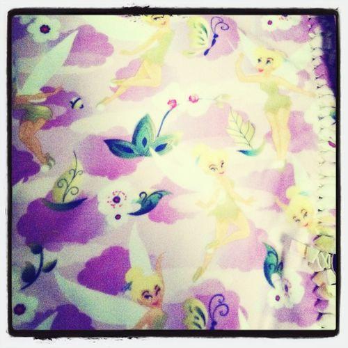 Tinker bell blanket yay!
