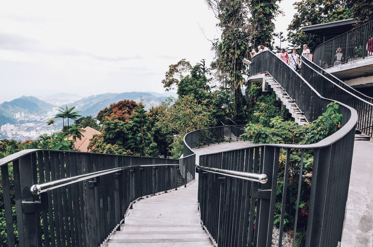 Landscape Penang Hill Malaysia Morning Travel Penang Trees Hill Nature Clouds And Sky Scenery The Architect - 2016 EyeEm Awards Architecture Ladder Railling Cool Feeling Relax Forest Traveling Travel Photography Perspective Perspectives The Great Outdoors - 2016 EyeEm Awards