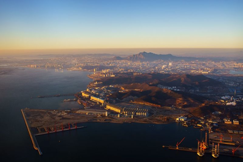 Landscape Cityscape City Sea Dalian,China Dalian Dalian City
