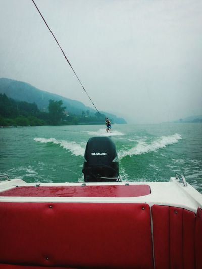 My Brother  River Wake Boarding On A Boat