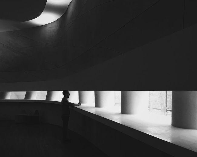 Man in corridor