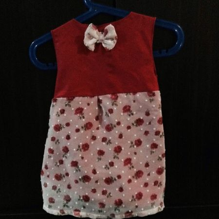 made a baby clothing for the first time 😜💃 dont know who it'll fit but i'll keep it for my future daughter ❤️ Red Roses Handmade Baby Dress Sewing Hobby