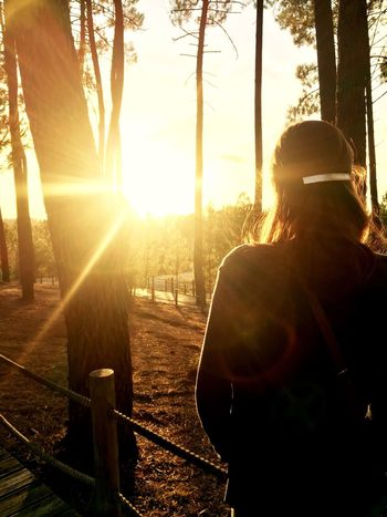Fim de tarde em São Lourenço 2 Lens Flare Sunlight One Person Rear View Outdoors Women Portugal Park Abrantes