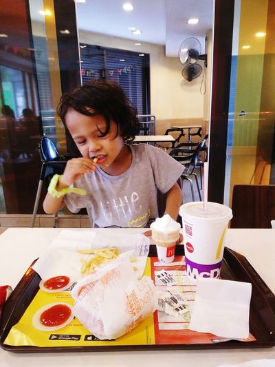 Eating Fast Food French Fries One Boy Having A Lunch Food Stories Adult One Person Food And Drink