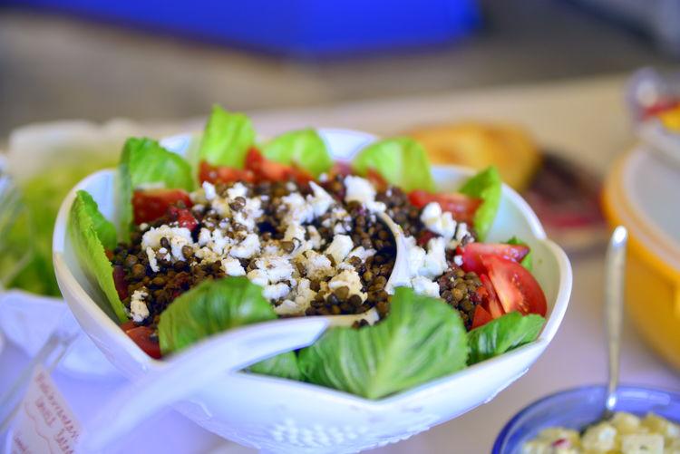 Close-up Food Freshness Healthy Eating Healthy Lifestyle Plate Salad Still Life Vegetable Lentil Salad