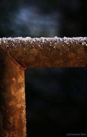 Huhu...?...Es ist kalt!... Hello World Riegelsberg  Snow Kristal Sun Cold Cold Winter ❄⛄ Winkel Geländer Fotography