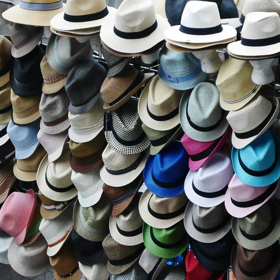 Hipster happiness. Hat Hats Hats And More Hats Fedora  Fedora Hat Hipster Style Hipsterswag Sidewalk Photography Retail Therapy Many Still Life
