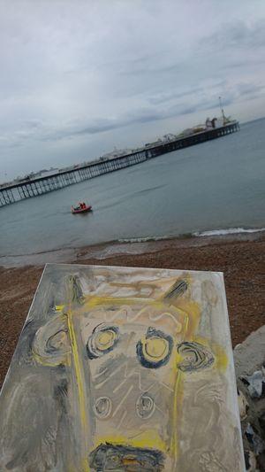 Water Sand Brighton Pier Brighton Beach Artcrossing EyeEmNewHere