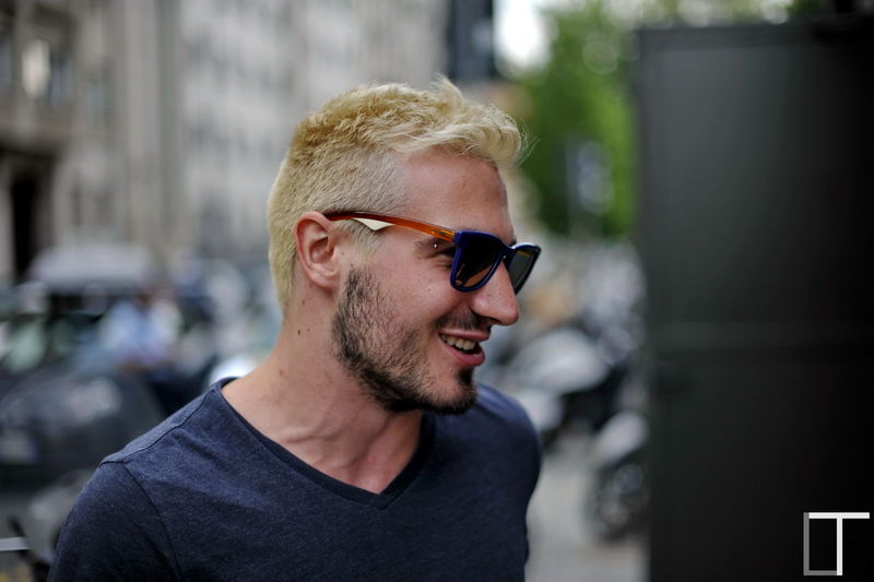 The return of the King. Alberto. Friend Blonde Fake Blonde Hair Dye Sunglasses Muscles Jugular Smile Back In Town Blonde Hair Blonde Hair Black Beard Blonde Hair Dye Piercing Tattoo Boy 50mm 1.4