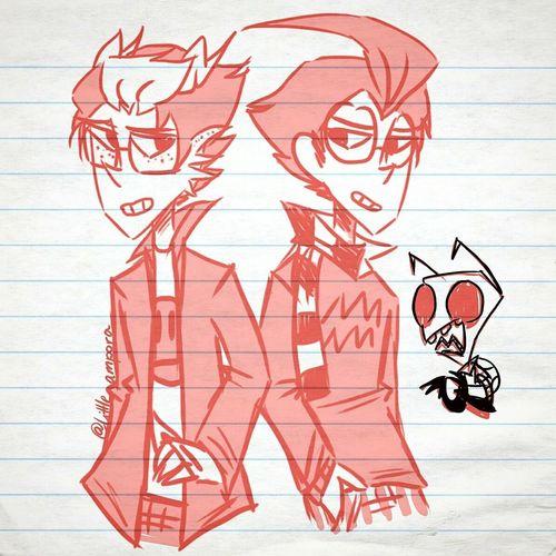 Dib and eridan are my two baes Homestuck Invader Zim Digital Art Doodles