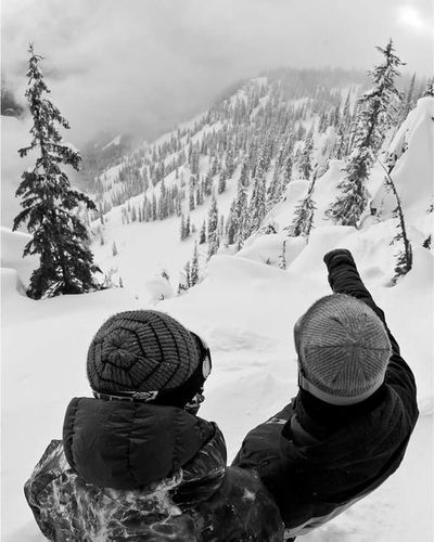 Snow ❄ Winter Snow Cold Temperature Mountain Snowboarding Sport Nature Rear View Snowing Warm Clothing Outdoors Scenics Tree People Day Headwear Adults Only Adult Weekend Week Of Eyeem