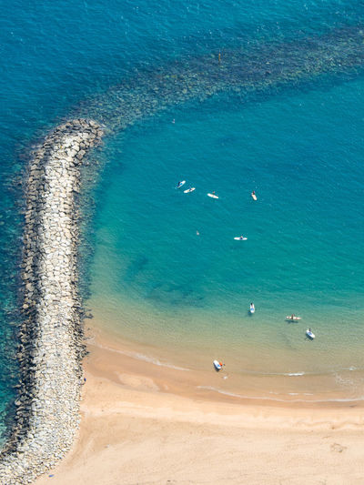 Beach Beauty In Nature Boards Day Gibraltar High Angle View Nature Nautical Outdoors Paddle Paddleboarding Sand Scenics Sea Vacations Water