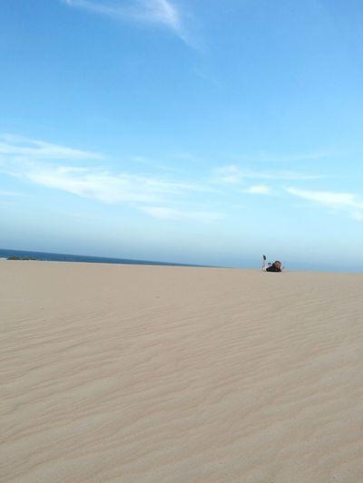 EyeEm Selects Sand Dune Sea Desert Low Tide Beach Full Length Water Blue Sand Backgrounds Seascape Coast Horizon Over Water Calm Arid Landscape