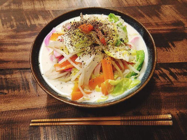夕食 ちゃんぽん ちゃんぽん Dinner 3月19日(土)