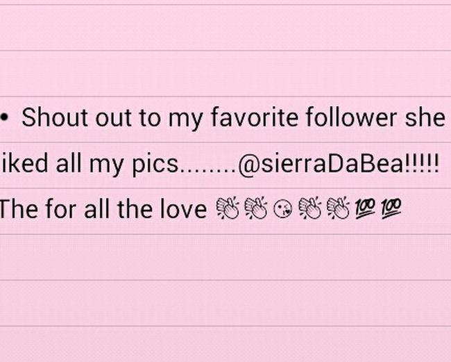 Respect <3 Truth Love ♥ Happy Thankyou ShoutOut Bestfans Lovelovelove @sierraDabea