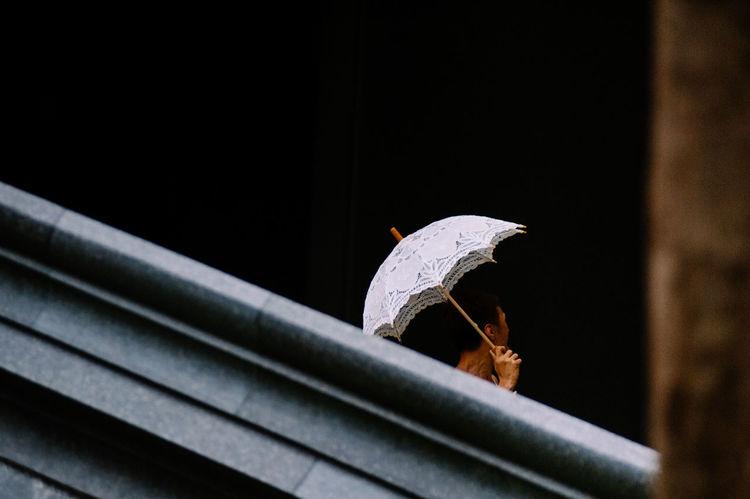 Arhitecture Fine Art Photography Person In Nature Tree Trunk Umbrella Unrecognizable Person White Umbrella Young Adult