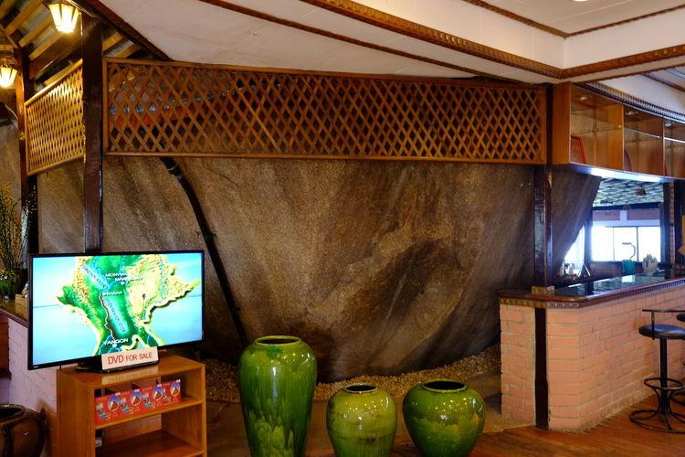 Hotel Built around Rocks, Mount Kyaiktiyo Composition For Sale Full Frame Hanging Out Hotel Hotel Lobby Indoor Photography Kinpun Mount Kyaiktiyo Mountain Rock Myanmar Nature No People Rock Technology Television Tv Unusual