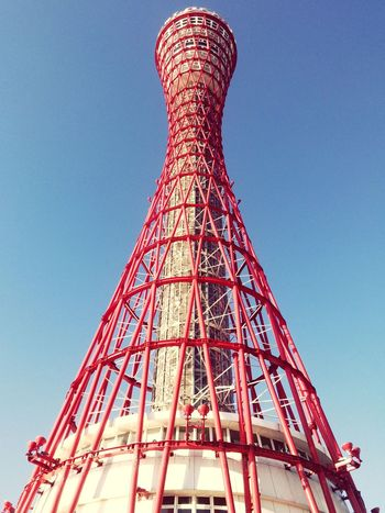 Kobe Port Tower Kobe Port Tower Travel Destinations Built Structure Architecture Red Low Angle View The Graphic City