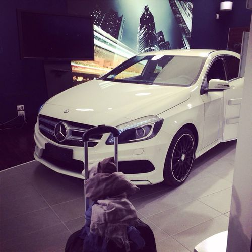 Mercedes A45 AMG Hello World Traveling ? in Roma
