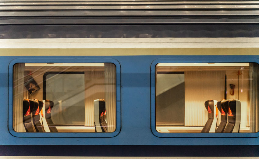 Group of people in train