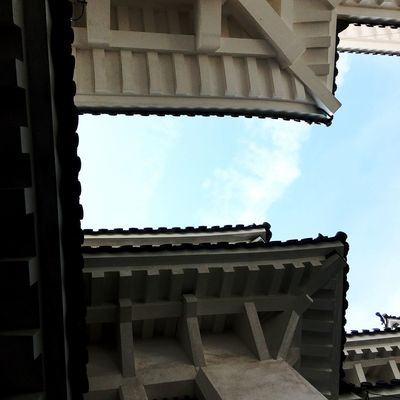 Ancient Civilization Architecture Building Building Exterior Built Structure Cloud - Sky Day Himeji Castle History Low Angle View Nature No People Outdoors Pattern Place Of Worship Roof Sky Sunlight The Past Travel Destinations Wood - Material