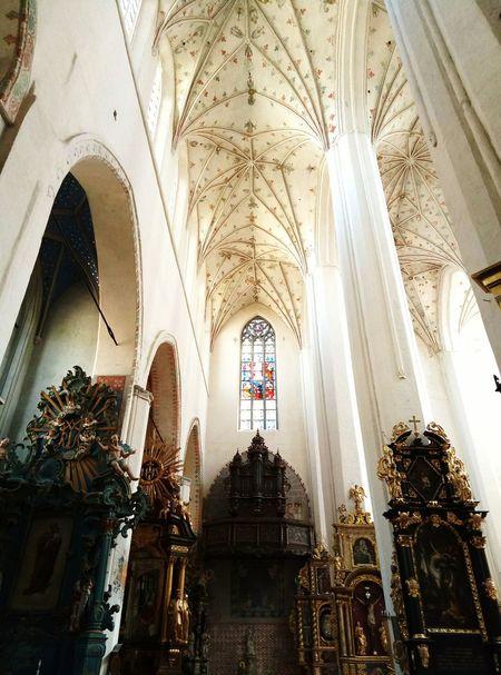 Religion Place Of Worship Spirituality Architecture History Indoors  Architectural Column No People Day Church Kostel Toruń Torun, Poland