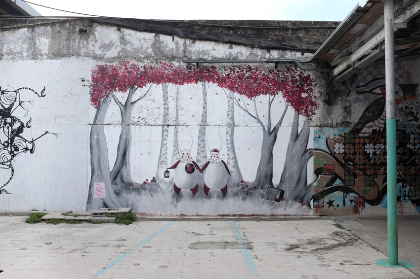 Abandoned Abandoned Buildings Abandoned Places Architecture Built Structure Day Hanging No People Outdoors Popsurrealism Street Art Streetart Streetart/graffiti Streetphotography