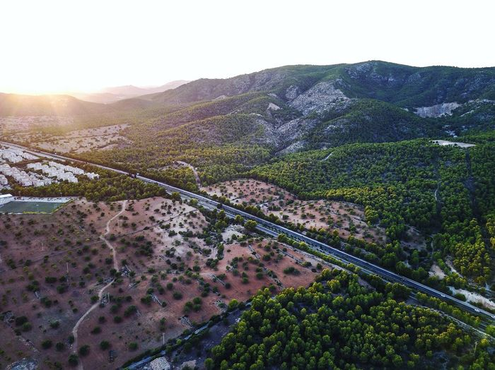 Drone  Mallorca SPAIN Beauty In Nature Clear Sky Day Landscape Mountain Mountain Range Nature No People Outdoors Scenics Sky Tranquil Scene Tranquility Tree