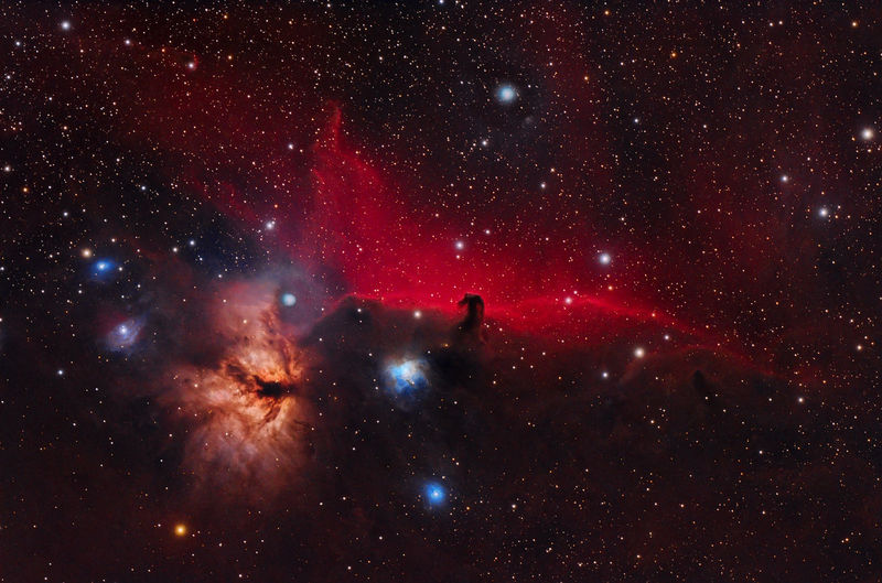 In orion belt we find one of the most well-known nebulae of the firmament, horsehead nebula.