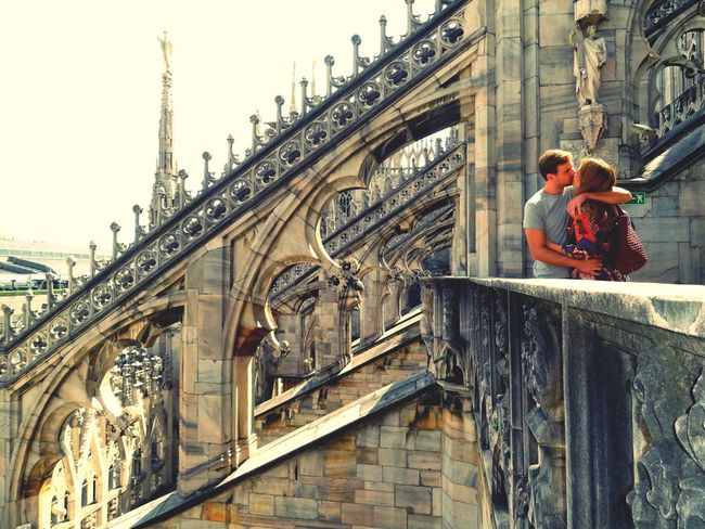 Love Architecture Up On The Roof At Duomo Di Milano Milano Lovers The Kiss.
