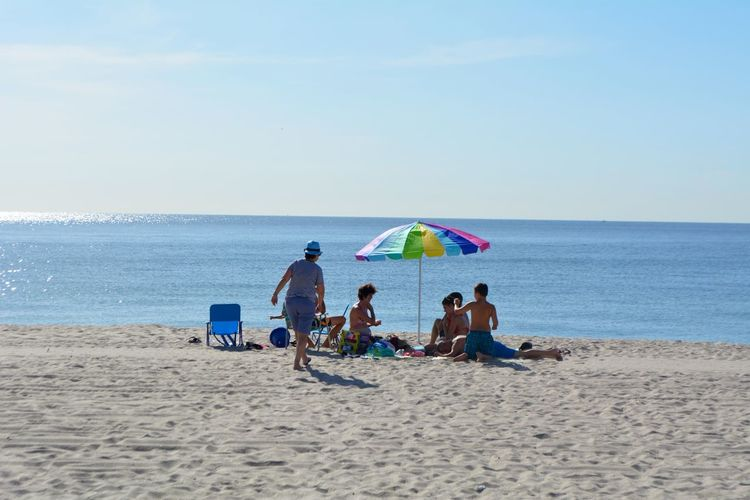 Beach Sea Land Sand Water Sky Horizon Over Water Horizon Real People Men Leisure Activity Holiday Beauty In Nature Lifestyles Scenics - Nature Nature Group Of People Vacations Trip Outdoors Family At The Beach Ocean Beach Family Bonds Family Portrait Family At The Seaside 2018 In One Photograph