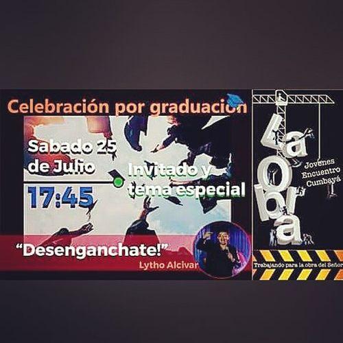 Quiero invitarlos este sábado 25 de julio las 17:45 a que podamos compartir de ElPartidodetuvidaLA con la Charla Desengánchate al estilo Standupcomedy en la IglesiaEncuentroCumbayá en LaObra los esperamos dile a todos tus amigos...