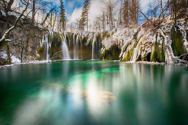 Plitvice lakes in winter Cold Temperature Ice Snow Winter Plitvice Croatia Lika Plitvice National Park Water Water Tree Plant Scenics - Nature Beauty In Nature Nature Tranquility Lake Tranquil Scene No People Day Reflection Forest Outdoors Idyllic Travel Land Environment