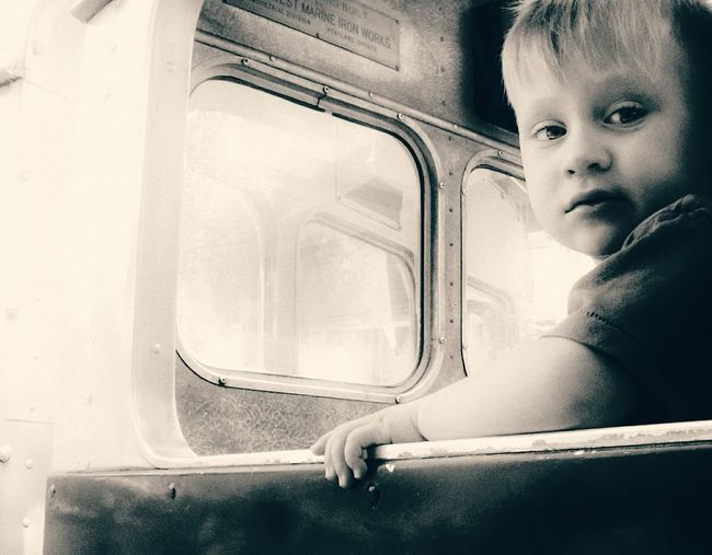 Darryn Doyle Check This Out Toddlerlife Toddler  Toddlerboy Child Childhood Sitting Headshot Car Interior Window Looking Through Window Portrait Car Train - Vehicle Vehicle Seat Train Interior Passenger Train Rail Transportation
