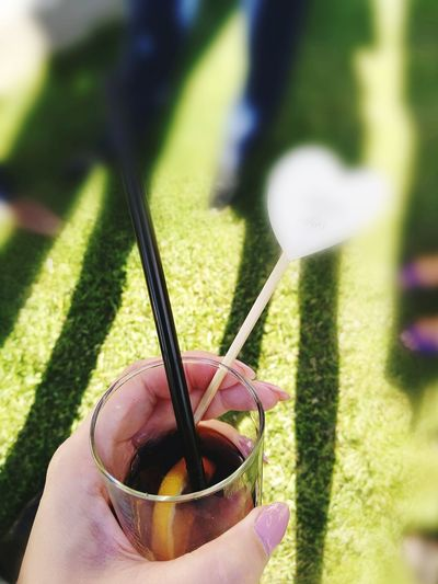 Drinking Glass Drinking Straw Coka Cola Cocktail Time outdoors People Shadow EyeEmNewHere