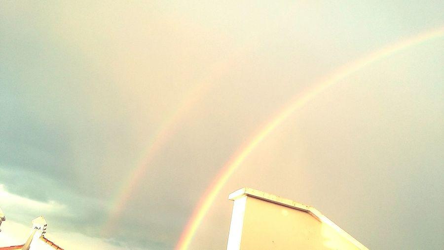 Double rainbow after a heavy rain Sky Abeautifulday Rainbow EyeEmNewHere Filtered U41