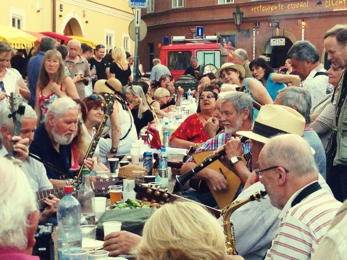 Streetphotography Street Life The Table Is Set Mala Strana  Street Event Street Party People Celebrating Enjoying Life People Photography Peple People And Places People Around The World People Eating Croud
