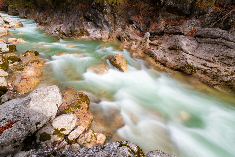 Peaceful River in Austria Water Rock Rock - Object Solid Motion Beauty In Nature Scenics - Nature Long Exposure Nature Blurred Motion Land Rock Formation Flowing No People River Flowing Water Waterfall Day Stream - Flowing Water Outdoors Power In Nature Purity