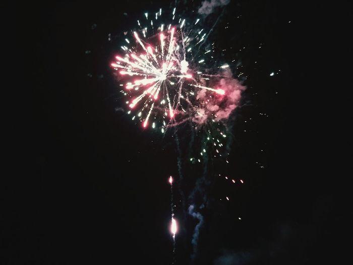 Girls' Day Night Sky Outdoors Fireworks Part2♡ Millennial Pink