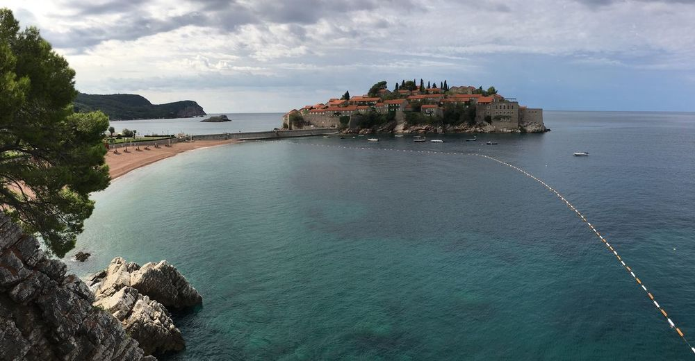 Sveti Stefan Resort Arquitecture Travel Destinations Montenegro Nature Landscape Ocean View Blue Sea