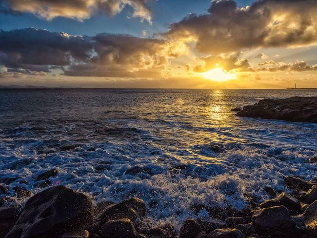 The KIOMI Collection Sunset Seascape Waves Clouds Lanzarote Eyeemphoto