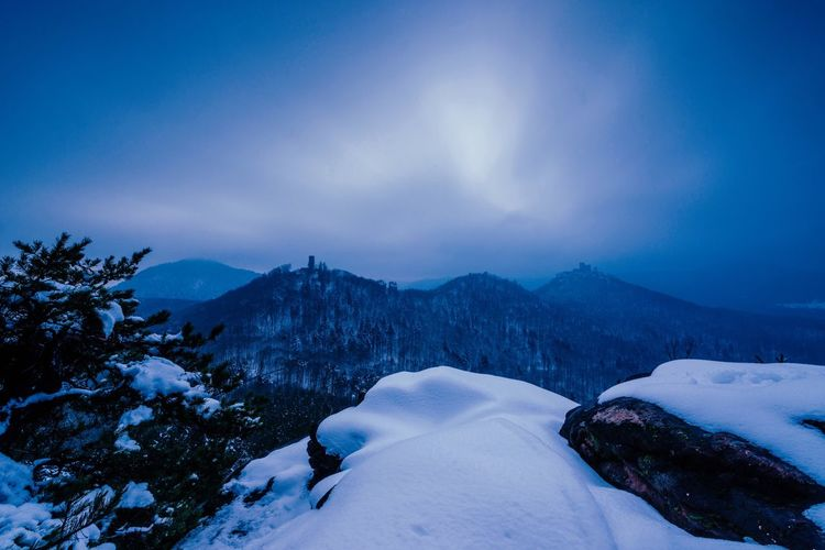 Palatinate Forest Snow Winter Cold Temperature Mountain Nature Sky Tranquility Beauty In Nature No People Cloud - Sky Landscape Outdoors Scenics The Great Outdoors - 2018 EyeEm Awards