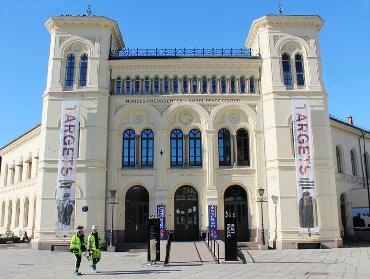 Nobel Peace Center Oslo Travel Destinations Cultures History Architecture City Travel Building Exterior Cityscape Eyem Gallery Built Structure Arch Outdoors Day Norway