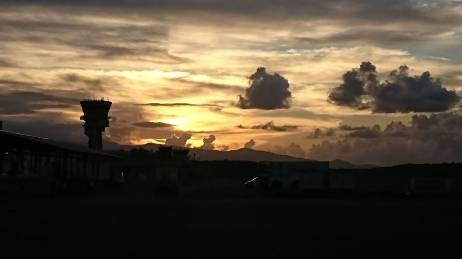 Sunset Sunrise Sunrise_Collection Airport Horizon Point Of View Landscape Outdoors Guadeloupe Tropical Climate Guadeloupeislands Cloud - Sky Airplane Travel Destinations Transportation Storm Cloud Dramatic Sky Sky Only