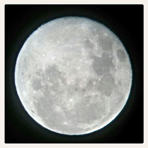 Photo taken on cellphone through telescope Full Moon Check This Out Hello World Moon