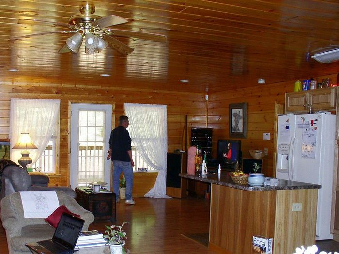 Interior Views Mountain Life Mountain Cabin Wood Paneling Wooden Floor Windows Sunlight Living Room Fish Tank Home Cozy Comfortable Popular Photos The_home_front Theellijays